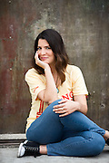 Los Angeles actress publicity portrait shot on location in Venice Beach, Calif.