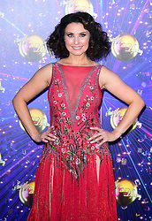 Emma Barton arriving at the red carpet launch of Strictly Come Dancing 2019, held at BBC TV Centre in London, UK.