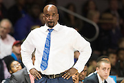 DALLAS, TX - DECEMBER 17: Hampton Pirates head coach Edward Joyner, Jr looks on against the SMU Mustangs on December 17, 2015 at Moody Coliseum in Dallas, Texas.  (Photo by Cooper Neill/Getty Images) *** Local Caption *** Edward Joyner Jr.