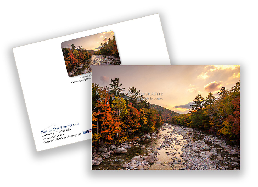 E Branch of the Pemigewasset River along the Kancamagus HIghway White Mountains New Hampshire <br /> 5x7 Greeting Card 100% Recycled Paper