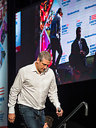 10 AUGUST 2019 - DES MOINES, IOWA: Congressman TIM RYAN (D-OH), a Democratic Presidential candidate, walks into the Presidential Gun Sense Forum. Several thousand people from as far away as Milwaukee, WI, and Chicago, came to Des Moines Saturday for the Presidential Gun Sense Forum. Most of the Democratic candidates for president attended the event, which was organized by Moms Demand Action, Every Town for Gun Safety, and Students Demand Action.     PHOTO BY JACK KURTZ
