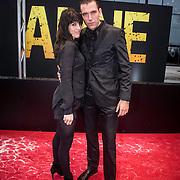 NLD/Amsterdam/20140508 - Wereldpremiere Musical Anne, Matteo van der Grijn en partner Marije