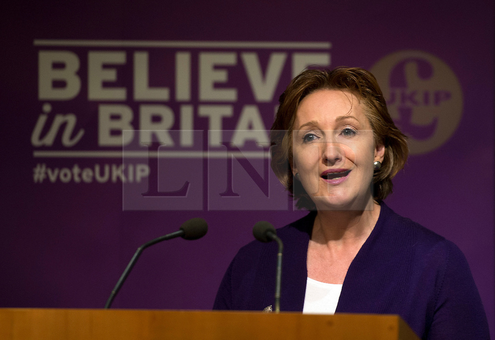 © Licensed to London News Pictures. 21/04/2015. <br /> LONDON, UK. UKIP Deputy chairman Suzanne Evans and UKIP Economics Spokesman Patrick O'Flynn host a briefing on a major party policy issue in London. Photo credit : Hannah McKay/LNP