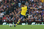 Mikel Arteta of Arsenal in action. Barclays Premier league match, Aston Villa v Arsenal at Villa Park in Birmingham on Saturday 20th Sept 2014<br /> pic by Mark Hawkins, Andrew Orchard sports photography.