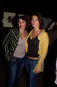 Sadie Frost and Holly Davidson. Book launch for Dr. Joshi's Holistic Dett. The Arts Club, 40 Dover st. London. 26 May 2005. ONE TIME USE ONLY - DO NOT ARCHIVE  © Copyright Photograph by Dafydd Jones 66 Stockwell Park Rd. London SW9 0DA Tel 020 7733 0108 www.dafjones.com