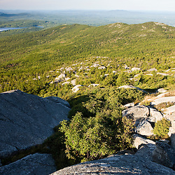 A view from the summit of Mount Monadnock in New Hampshire's Monadnock State Park.