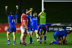 Italy celebrate there win at the final Whistle <br /> <br /> Photographer Craig Thomas/Replay Images<br /> <br /> U20 Six Nations - Wales v Italy  - Friday 31st January 2020 - Stadiwm Zip World (Parc Eirias) - Colwyn Bay<br /> <br /> World Copyright © Replay Images . All rights reserved. info@replayimages.co.uk - http://replayimages.co.uk