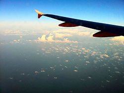 Images taken in the early evening, several hours into the Easyjet flight from London Luton to Tel Aviv, on 30th December 2010.