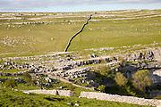 Carboniferous limestone scenery, top of Malham Cove Yorkshire Dales national park, England, UK