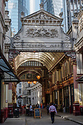 Looking into Leadenhall Market on the 19th September 2019 in London in the United Kingdom.
