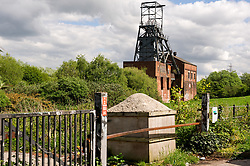 The winding works and pit head of the redundant coal mine, Barnsley Main Colliery, Yorkshire