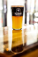 Variations of the  black and tan such as this Black Wolf are available off the menu at the San Fernando Brewery Co.  in San Fernando, CA.  November 6, 2015. Photo by David Sprague