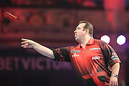 Brendan Dolan during the First Round of the BetVictor World Matchplay Darts at the Empress Ballroom, Blackpool, United Kingdom on 19 July 2015. Photo by Shane Healey.