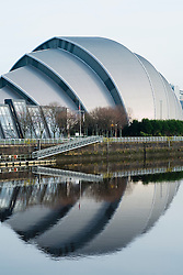 Clyde Auditorium at SECC or Scottish Exhibition and Conference Centre in Glasgow UK
