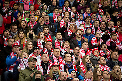 November 10, 2017 - Warsaw, Poland - Polish fans during the international friendly soccer match between Poland and Uruguay at the PGE National Stadium in Warsaw, Poland on 10 November 2017  (Credit Image: © Mateusz Wlodarczyk/NurPhoto via ZUMA Press)