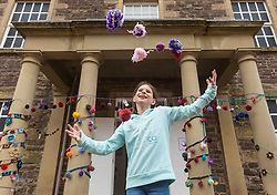 [Insert Detail] during the Scotland-wide World Heritage Day festivities. Six unique events, coordinated by Dig It! 2017, celebrated Scotland's six World Heritage Sites as part of the 2017 Year of History, Heritage and Archaeology. <br /> <br /> Pictured: Olivia Doherty (9) outside the New Lanark Institute