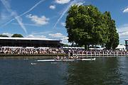Henley-on-Thames. United Kingdom.  2017 Henley Royal Regatta, Henley Reach, River Thames. <br /> Women's Four Final, New York Athletic Club.  <br /> 15:27:20  Sunday  02/07/2017   <br /> <br /> [Mandatory Credit. Peter SPURRIER/Intersport Images.