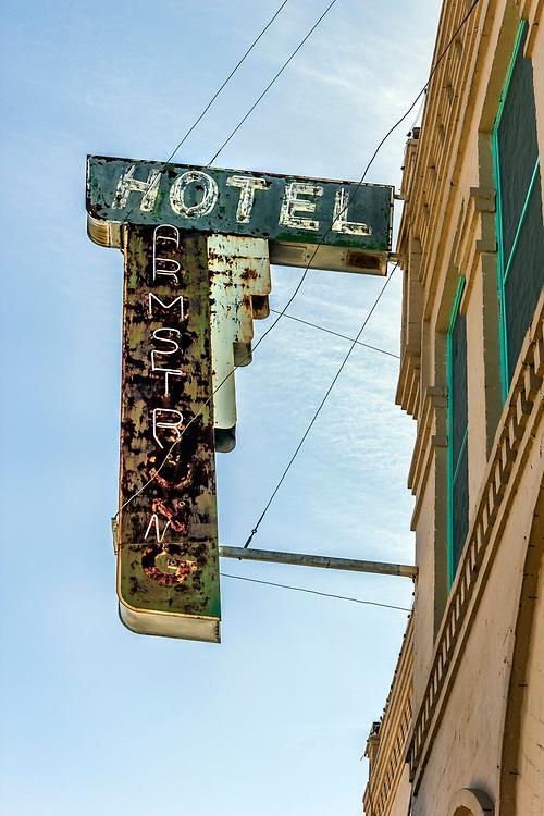 Hondo Texas, USA. The old  Armstrong Hotel.