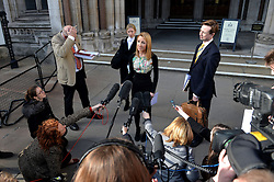 Widow Beth Warren speaks to press as she leaves The High Court, London, UK, after winning her fight with the High Court to preserve her late husband's sperm.<br /> Thursday, 6th March 2014. Picture by Ben Stevens / i-Images