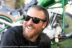 Photographer Josh Kurpius at the Born Free Motorcycle Show (BF11) at Oak Canyon Ranch, Silverado  CA, USA. Saturday, June 22, 2019. Photography ©2019 Michael Lichter.