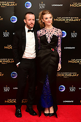 Anthony Byrne and Natalie Dormer arriving at the after party of The Hunger Games: Mockingjay Part 1, held at the Bloomsbury Ballroom, London.