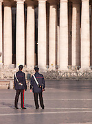 Policemen in St. Peters Square, Vatican City, rome, Italy