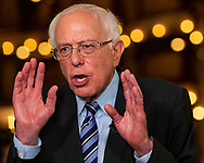 Democratic presidential candidate Sen. Bernie Sanders (I-VT) speaks with the press after participating in the first primary debate for the 2020 elections at the Adrienne Arsht Center for the Performing Arts in downtown Miami on Thursday, June 27, 2019.