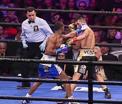 January 26, 2019 - New York, New York, United States - Tugstsogt Nyambayar won WBC featherweight eliminator fight against Claudio Marrero at Barclays Center (Credit Image: © Lev Radin/Pacific Press via ZUMA Wire)