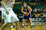WACO, TX - DECEMBER 18: Matt Killian #13 of the Northwestern State Demons brings the ball up court against the Baylor Bears on December 18 at the Ferrell Center in Waco, Texas.  (Photo by Cooper Neill/Getty Images) *** Local Caption *** Matt Killian