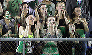 Cornwall fans cheer for their team during a game in Wallkill on Friday, Oct. 1, 2010.