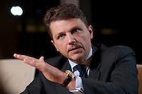 26 FEB 2009, BERLIN/GERMANY:<br /> Stephan Sturm, CFO Fresenius SE, waehrend einem Interview, nach der Preisverleihung des Best of European Business Awards, Franzoesische Botschaft<br /> IMAGE: 20090226-03-016