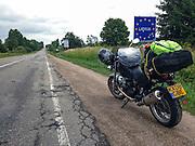 Zarasai, Lithuania, 19/07/2013.<br /> Roads become worse on the Lithuania - Latvia border.