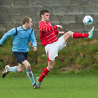 Newmarkets Eoin O'Brien controls the ball