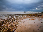 UK Victorian Pier at Clevedon on the Southwest Coast of England on a stormy evening. Licensing and Limited Edition Prints.
