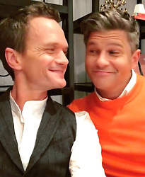 """Neil Patrick Harris releases a photo on Instagram with the following caption: """"\ud83d\ude18\ud83d\udc68\u200d\u2764\ufe0f\u200d\ud83d\udc68 *Swipe* \ud83d\udc48\n#neilpatrickharris #davidburtka #nph #db #tagsforlikes #actors #lovethem #handsome #chef #myedits #couple #husbands @nph @dbelicious \ud83d\udc99\ud83d\udc9a"""". Photo Credit: Instagram *** No USA Distribution *** For Editorial Use Only *** Not to be Published in Books or Photo Books ***  Please note: Fees charged by the agency are for the agency's services only, and do not, nor are they intended to, convey to the user any ownership of Copyright or License in the material. The agency does not claim any ownership including but not limited to Copyright or License in the attached material. By publishing this material you expressly agree to indemnify and to hold the agency and its directors, shareholders and employees harmless from any loss, claims, damages, demands, expenses (including legal fees), or any causes of action or allegation against the agency arising out of or connected in any way with publication of the material."""