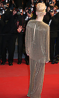 Actress Tilda Swinton.faces photographers at Only Lovers Left Alive gala screening at the Cannes Film Festival Saturday 26th May May 2013