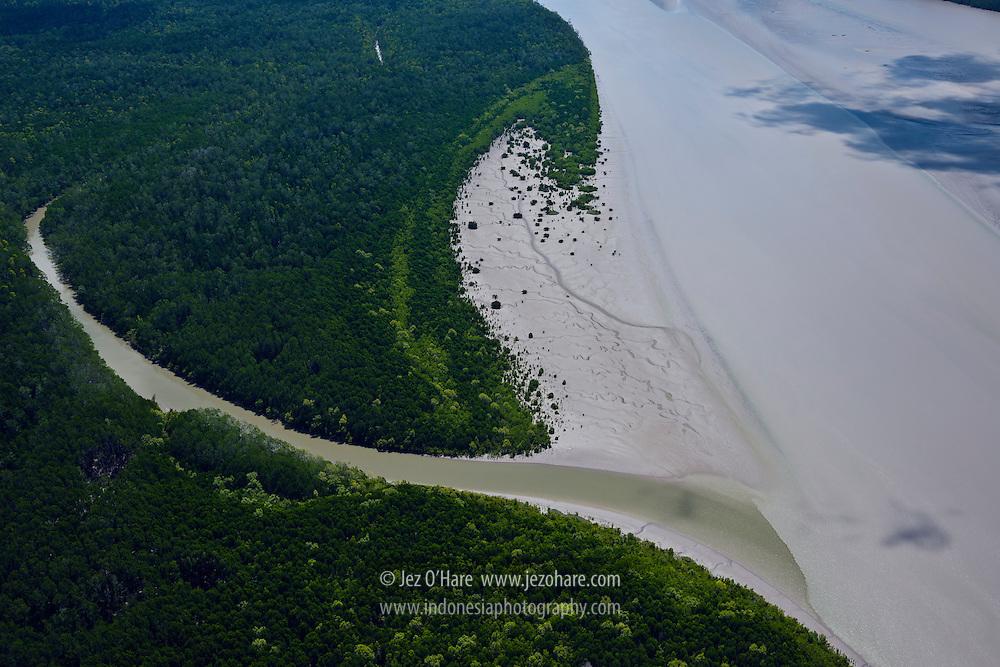 Ajkwa river estuary, Kabupaten Mimika, Papua, Indonesia.