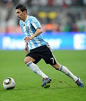 Fotball<br /> Tyskland v Argentina<br /> 03.03.2010<br /> Foto: Witters/Digitalsport<br /> NORWAY ONLY<br /> <br /> Angel Di Maria Argentinien<br /> Testspiel Deutschland - Argentinien