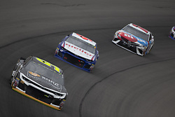 June 10, 2018 - Brooklyn, Michigan, United States of America - Kasey Kahne (95) races off turn one during the FireKeepers Casino 400 at Michigan International Speedway in Brooklyn, Michigan. (Credit Image: © Stephen A. Arce/ASP via ZUMA Wire)