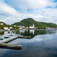 Kirkehamn på Hidra utenfor Flekkefjord.