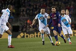 December 17, 2017 - Barcelona, Catalonia, Spain - Leo Messi during the spanish league match between FC Barcelona and Deporitvo de La Coruña at the Camp Nou Stadium in Barcelona, Catalonia, Spain on December 17,2017  (Credit Image: © Miquel Llop/NurPhoto via ZUMA Press)