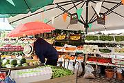 Farmer's market Food court in Copenhagen, Denmark