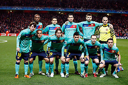 16-02-2011 VOETBAL: ARSENAL - FC BARCELONA: LONDON<br /> Round of last 16, at the Emirates Stadium in London / Barcelona line up<br /> **NETHERLANDS ONLY** <br /> ©2011-WWW.FOTOHOOGENDOORN.NL/ nph/ Kieran Galvin