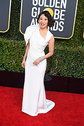 January 6, 2019 - Los Angeles, California, U.S. - Sandra Oh during red carpet arrivals for the 76th Annual Golden Globe Awards at The Beverly Hilton Hotel. (Credit Image: © Kevin Sullivan via ZUMA Wire)