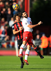 3 December 2017 -  Premier League - Bournemouth v Southampton - Charlie Austin of Southampton in action with Nathan Ake of Bournemouth - Photo: Marc Atkins/Offside