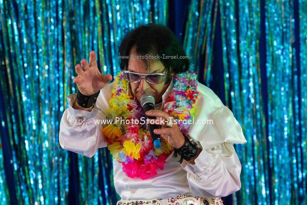 Elvis Presley impersonator.