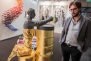 Baisse by Willy Verginer in the  Liquid Art System stand - London Art Fair, Islington, London, UK, 17 Jan 2017