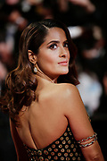 """Salma Hayek  attends the screening of the film """"Tale of tales"""" during the 68th Cannes Film Festival in Cannes on May 14, 2015"""
