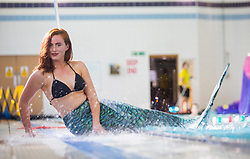 Rosalind Main tries out a mermaid classes at Eastfield Leisure Centre.