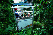 Costa Rica, El Castillo, Sky Tram, Tourists Enjoying Views Of The Rainforest,  Arenal